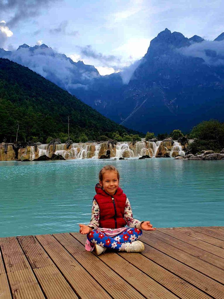 "Vika Mao - yoga ""instructor"" for kids at Yoga Hub Club"