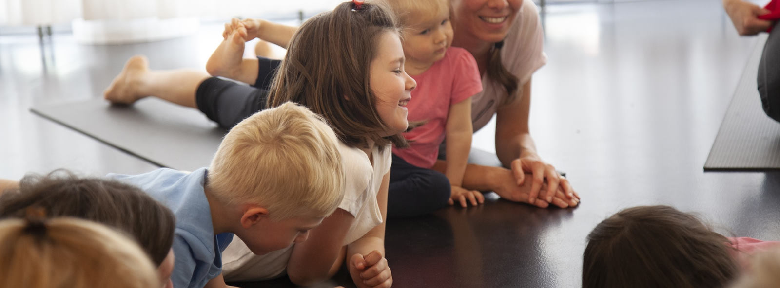 kids yoga in the kindergarten