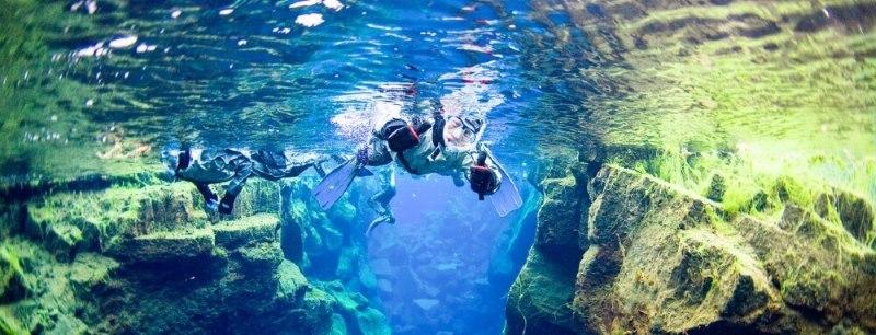 Snorkeling in Silfra-Iceland