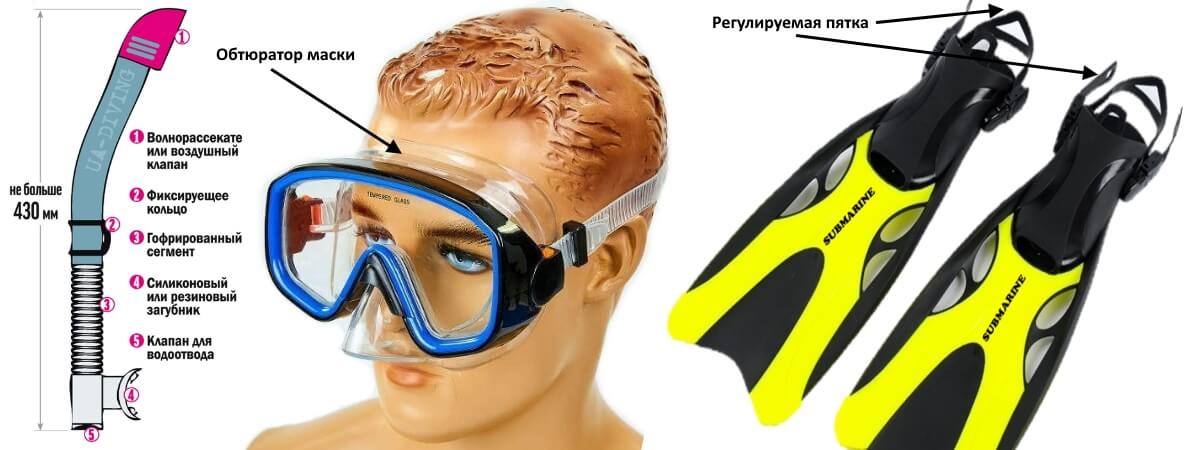 equipment for snorkeling