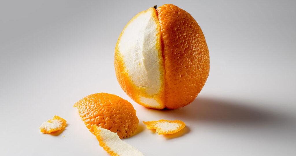 Апельсин напоминает целлюлит